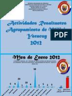 """ESTADISTICAS DEL AÑO 2012 ARTICULACION SOCIAL """"Agrupamiento de Milicia Yaracuy"""""""