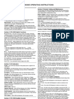 NFS 3030-E - Operating Instruccion