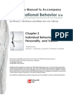 organization behavior teacher manual, chapter two