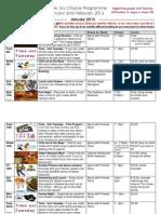 Adult Programme Jan & Feb 2013