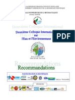 2e Colloque International Recommandation