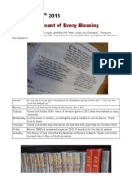 Besom Hymnspiration Prayer Letter