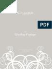 Wedding Package Brochure 2013