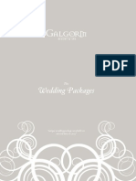Wedding Package Brochure 2013