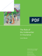 Role of Underwriter Insurance