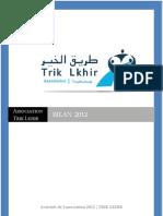 ASSOCIATION TRIK LKHIR BILAN  2012  Association Trik Lkhir Bilan 2012