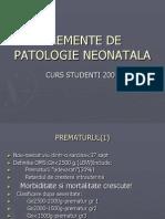 ELEMENTE DE PATOLOGIE NEONATALA.