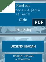 P. Point Urgensi Ibadah