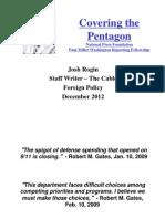 Covering the Pentagon-Josh Rogin
