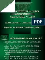 LEY DE TITULOS VALORES