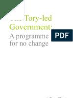 130107 - Tory-Led Govt a Programme for No Change
