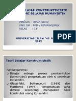 P. Point Teori Belajar Konstruktivistik Dan Humanistik