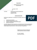 01-07-13 Public Notice of Meeting