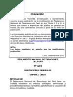 REGLAMENTO NACIONAL DE TASACIONES PERÚ