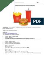 Fast Food Webquest - Spanish