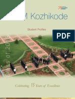 Student profiles-PGP 16 IIM Kozhikode