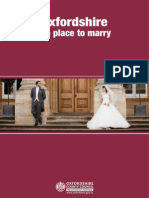 Oxfordshire the Place to Marry