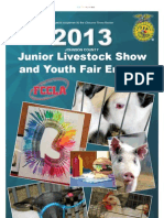 2013 Livestock Entries Tab