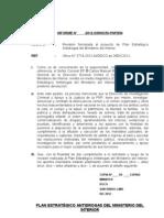 Informe Proyecto Plan Estrategico Antidrogas Mininter