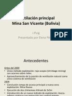 Ventilación principal Mina San Vicente (Bolivia)