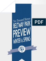 Beltway Park Winter & Spring Preview 2013
