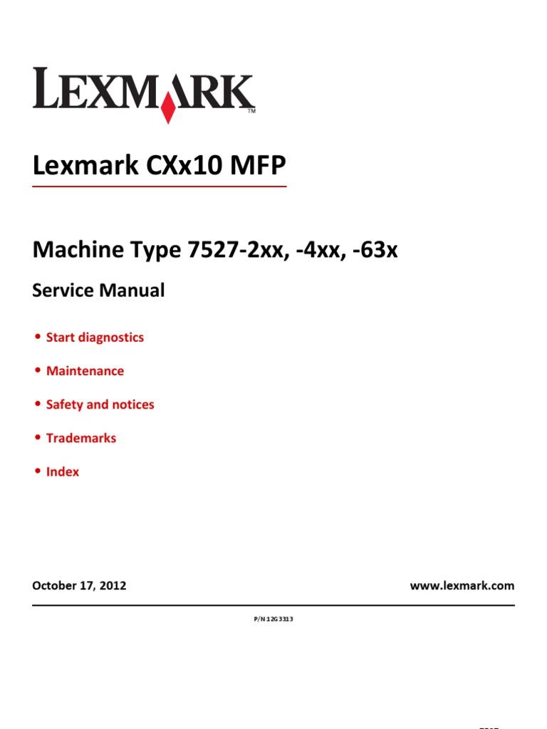 Lex Cx 310 410 510 7527sm Image Scanner Printer Computing
