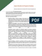 Esquema metodológico Estudios de Programa Ciudades Sostenibles