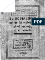 Frugoni Emilio - El Socialismo No Es La Violencia Ni El Despojo Ni El Reparto