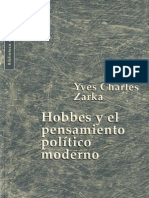 Yves Charles Zarka - Hobbes y el Pensamiento Político Moderno