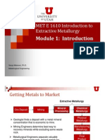 Extractive Metallurgy First PDF