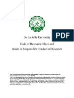 URCO Code of Research Ethics August2011