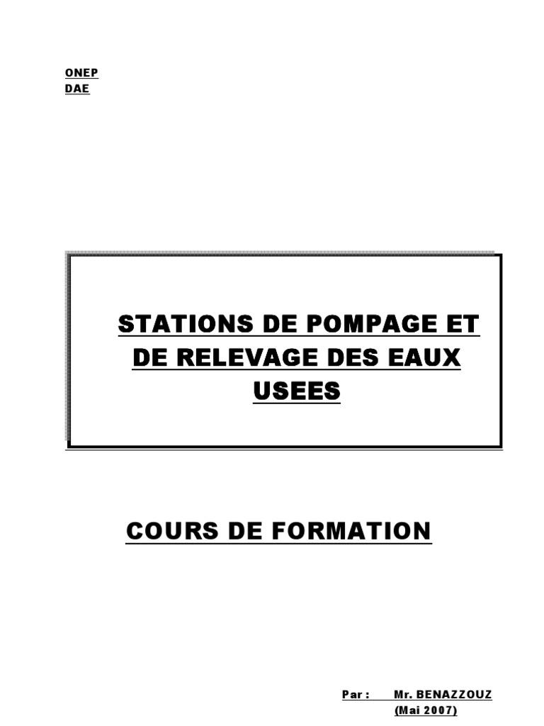 cours sur les stations de pompage pdf