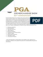 ¿Qué es la PGA 2013 Merchandise Show?