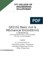 GE2152 Basic Civil & Mechanical Engineering