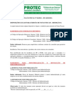 CODIGOS Emissao de Nota Fiscal Diversas
