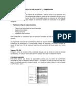 Perfiles de evaluación de la cementación
