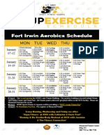 New Group Exercise Schedule