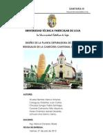 Planta Depuradora para la parroquia Pindal, Loja