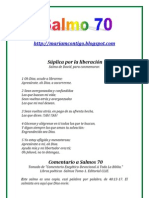 SALMO 70 - ALIANZA DE AMOR