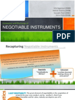 Negotiable Instruments - Dishonour and Discharge - Group V