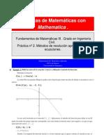 Bisección y Newton con Mathematica