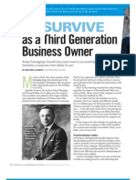 How to Survive as a Third Generation Business Owner