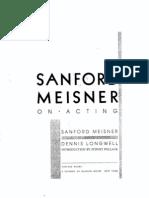 Sanford Meisner - On Acting (B&W)