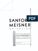 Sanford Meisner - On Acting (B&W)