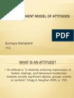 Tri- component model of attitudes
