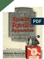 1919_General Radio Co. Catalog of High Quality Radio Apparatus