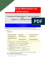Interpolación con Mathematica