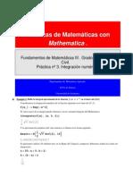 Integración numérica con Mathematica