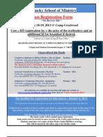 KSOM January 2013 Classes Registration Form