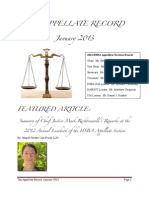 The Appellate Record, January 2013